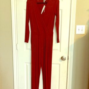 ASOS red jumpsuit